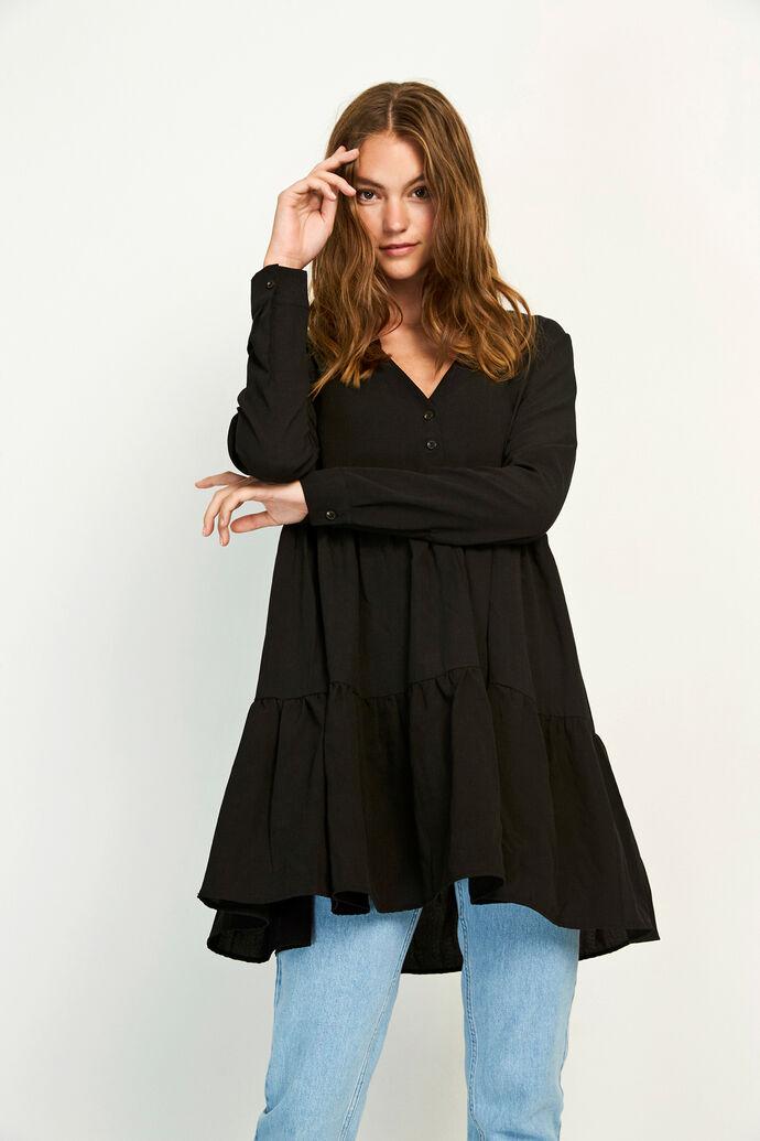 ENTEAK LS V-N DRESS 6660, BLACK