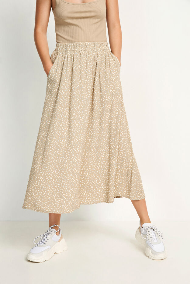 ENJUSTICE LONG SKIRT AOP 6626, CAMELLIA BLOOM