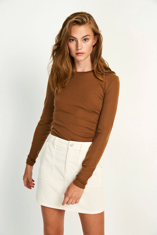 ENVILLY LS O-NECK TEE 5317, TOFFEE