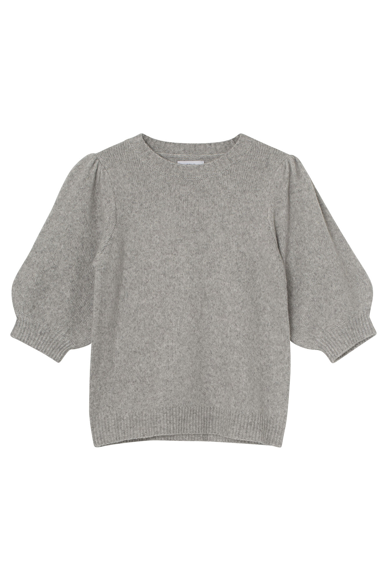 ENSOYA SS KNIT 5231, LIGHT GREY MEL.
