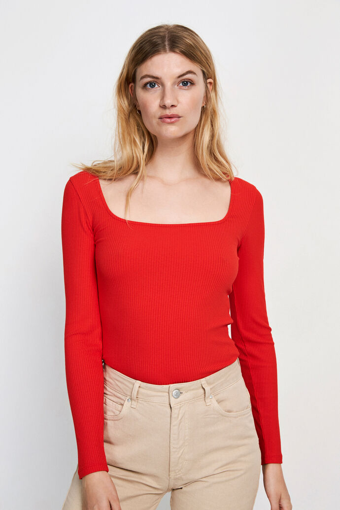 ENOTTO LS TEE 5923, HIGH RISK RED