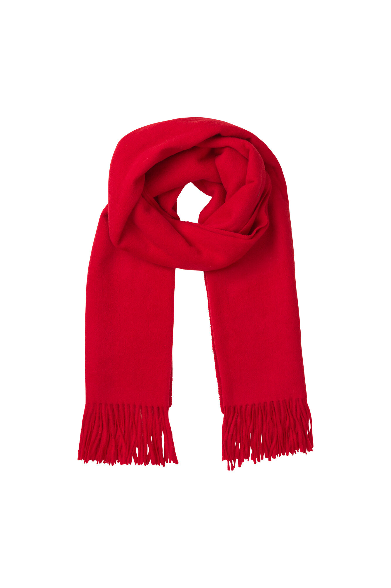 ENNEW WOOL SCARF, HIGH RISK RED