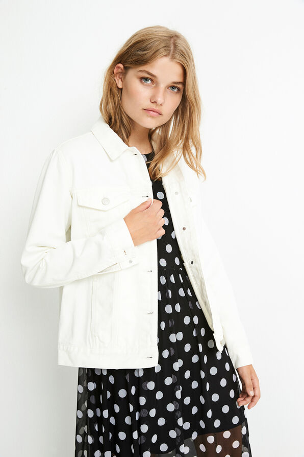ENSETTLER DENIM JACKET 6522, GARDENIA