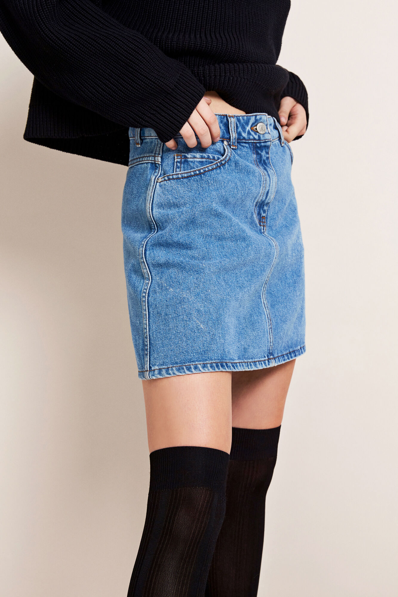ENRIDER DENIM SKIRT MID BLUE 6524