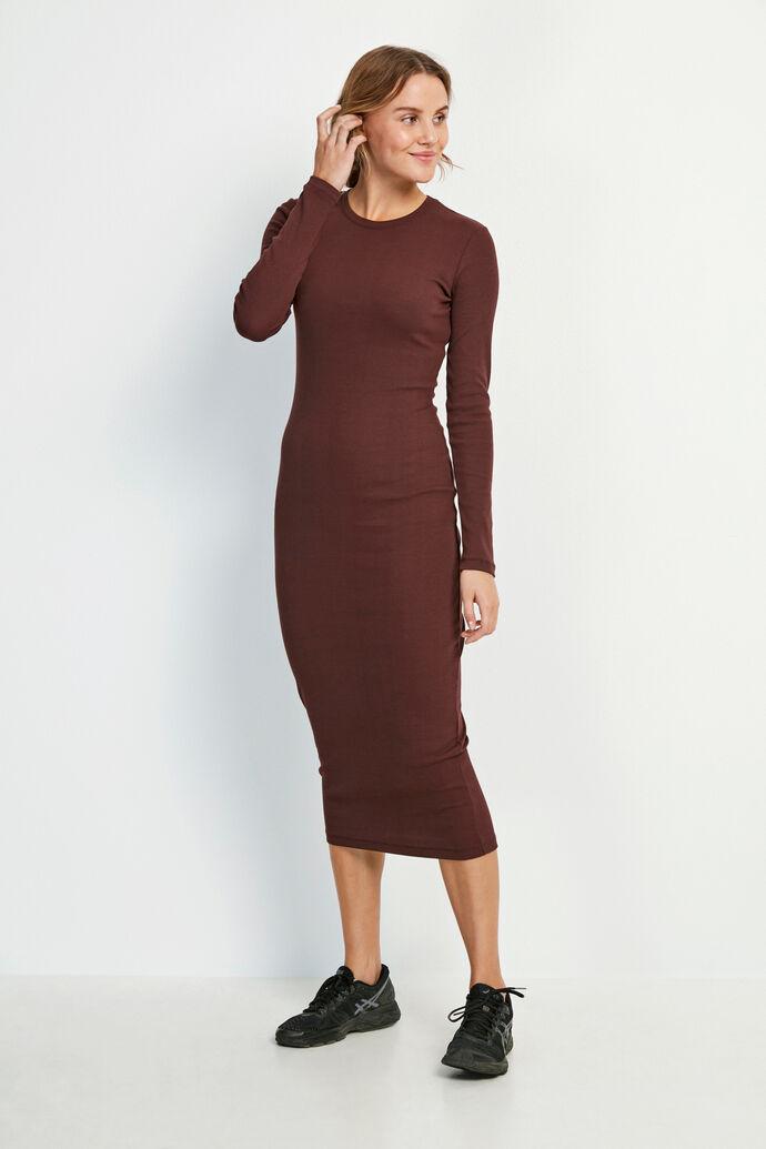 ENALLY LS DRESS 5314, FUDGE