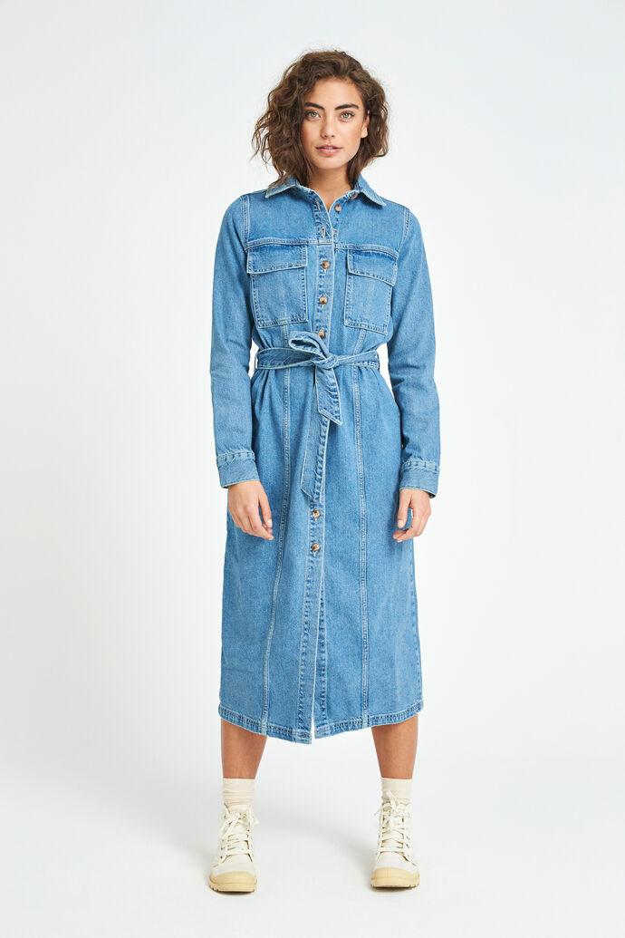 ENSURREAL LS DRESS 6513, MID BLUE