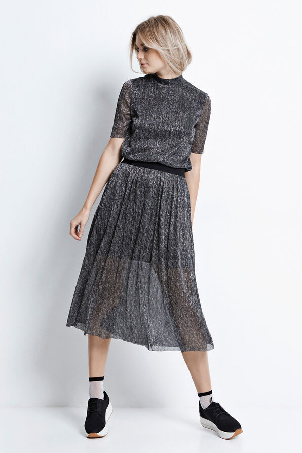 HEATH SKIRT 6414, METALLIC SILVER