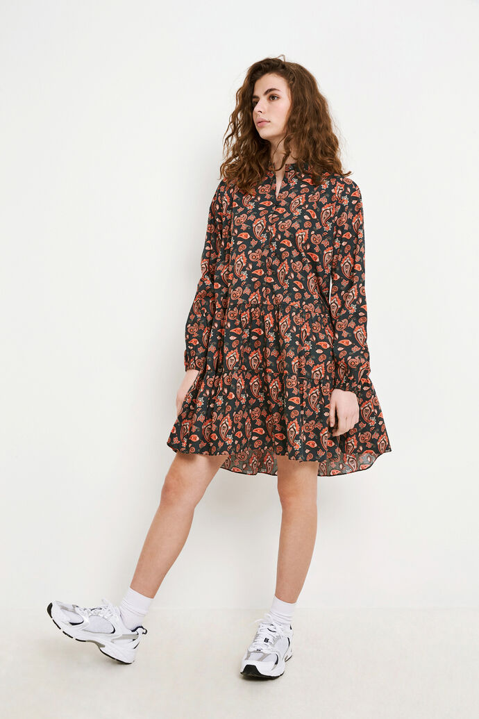 ENCLARA LS DRESS AOP 6709, TIGER PAISLEY