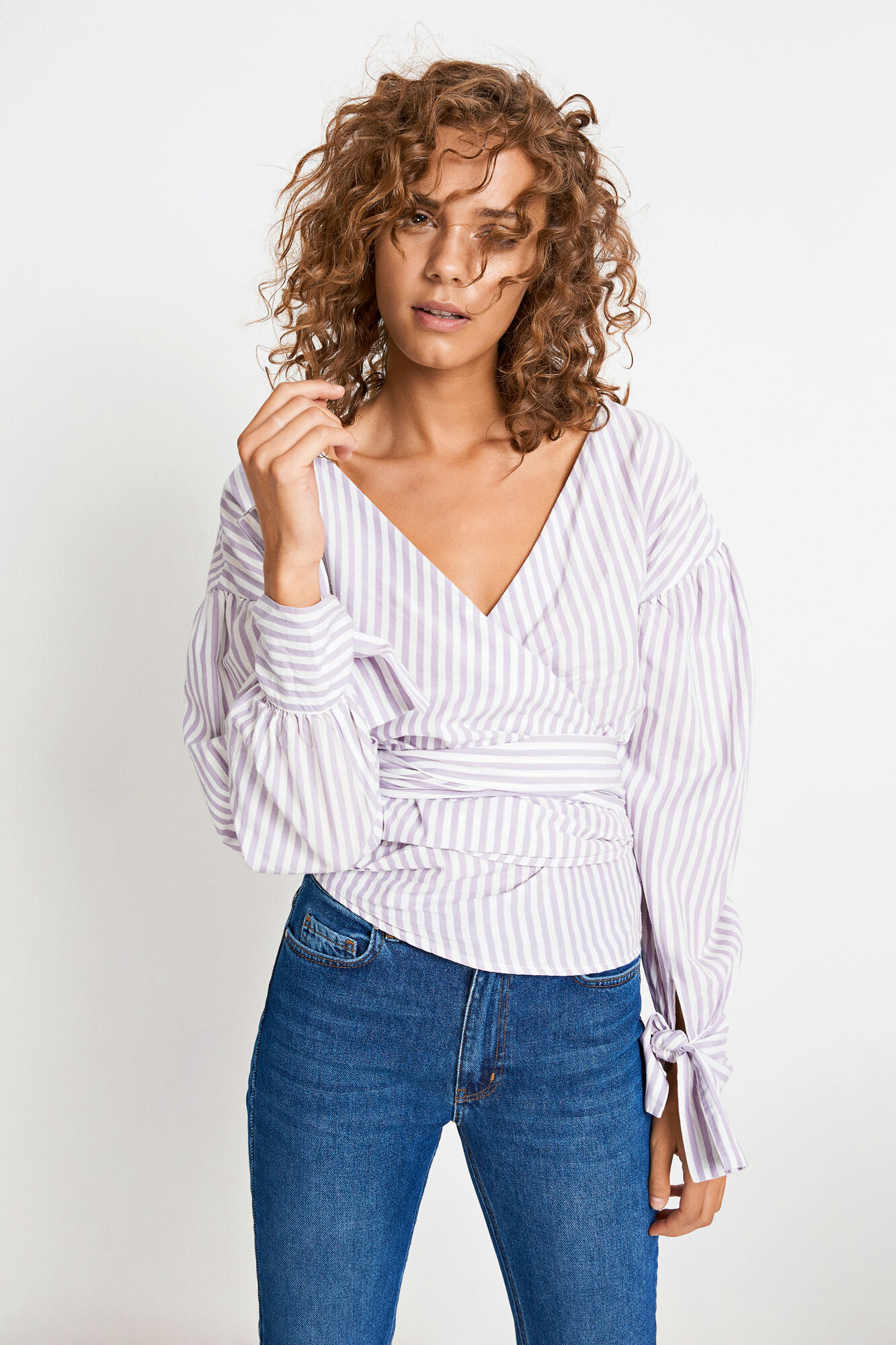 ENVERBIER LS TOP 6433, LAVENDER GRAY STRIPE