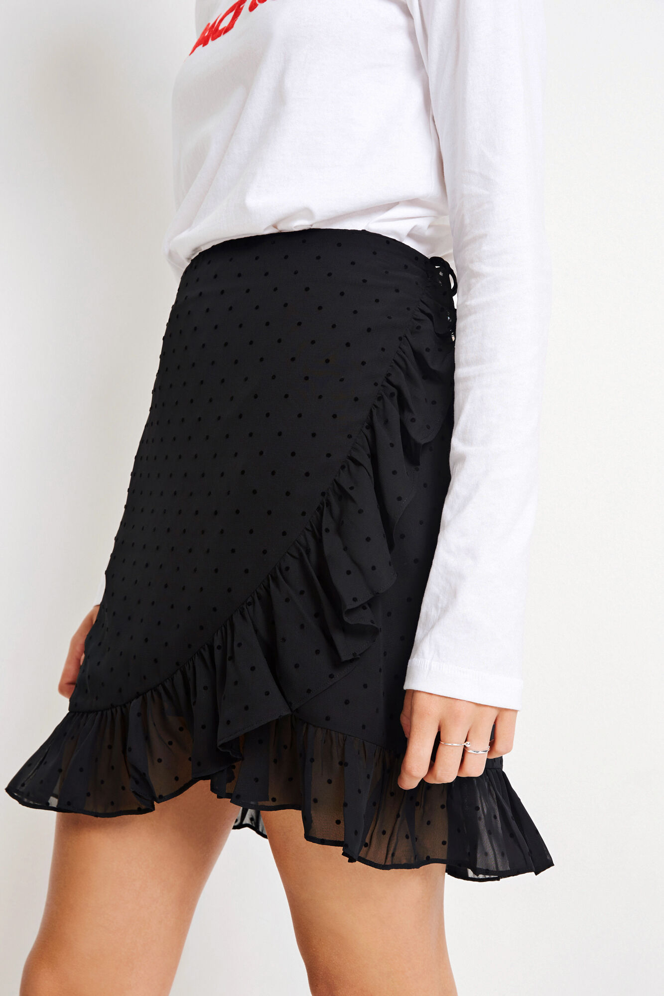 ENVADIA SKIRT 6489, BLACK