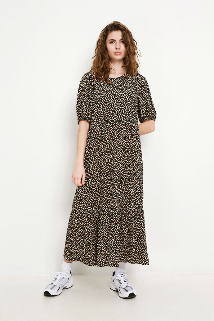 ENCLARA SS DRESS AOP 6696, MAGNOLIA DOESKIN