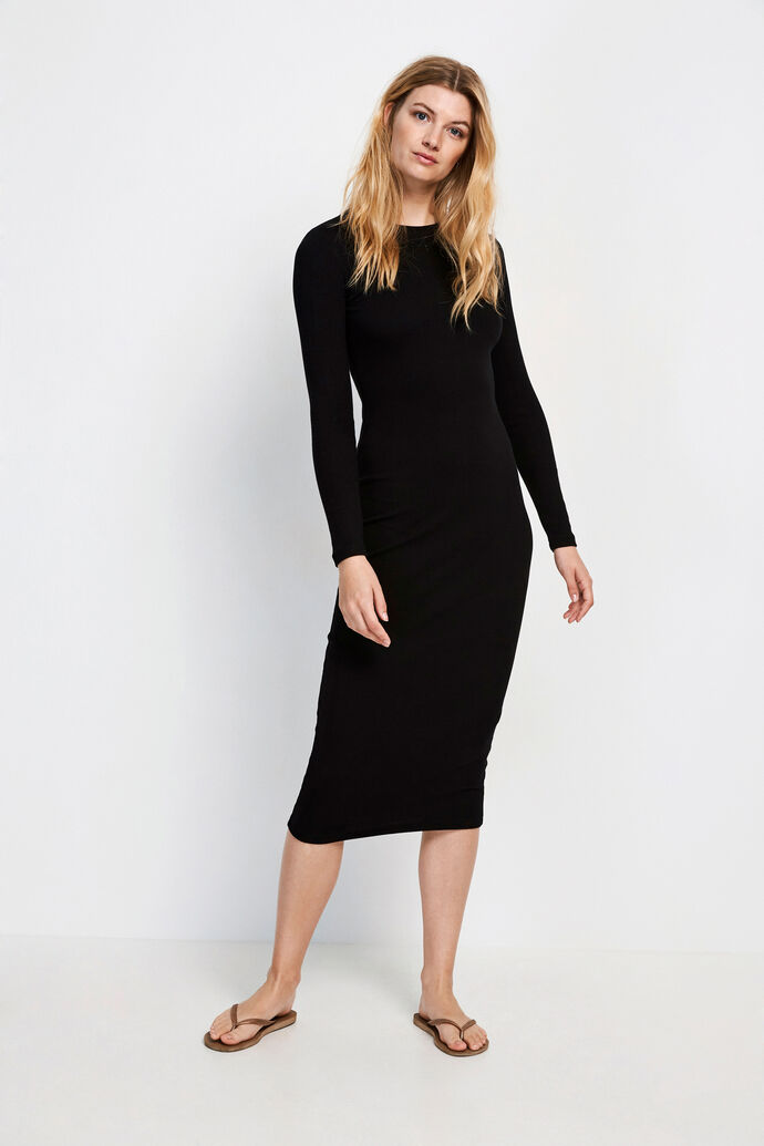 ENALLY LS DRESS 5314, BLACK