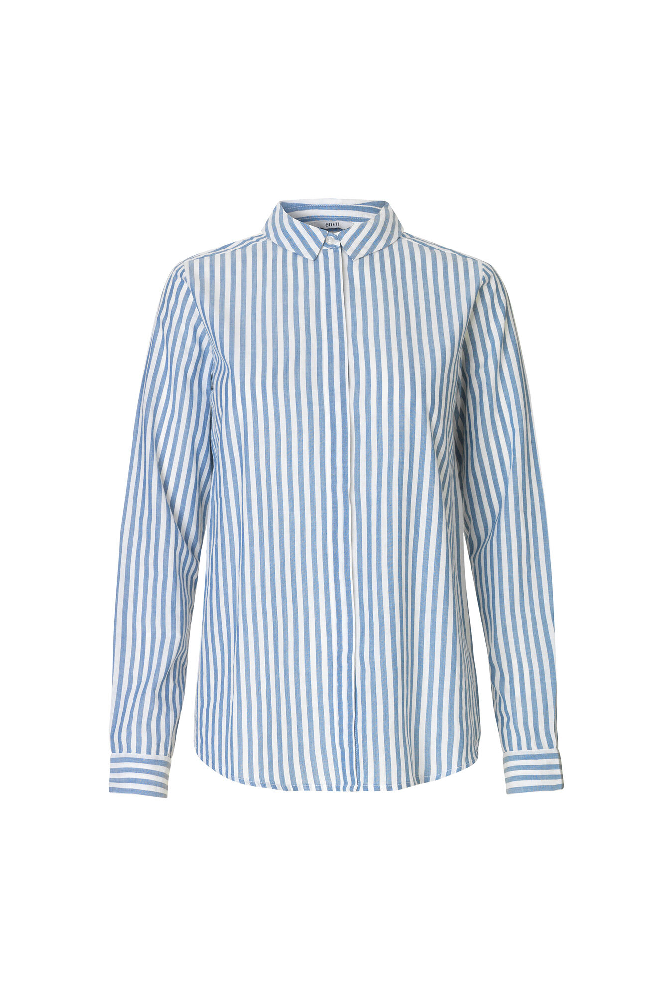ENMINT LS SHIRT STRIPE 6509, BLUE-WHITE ST