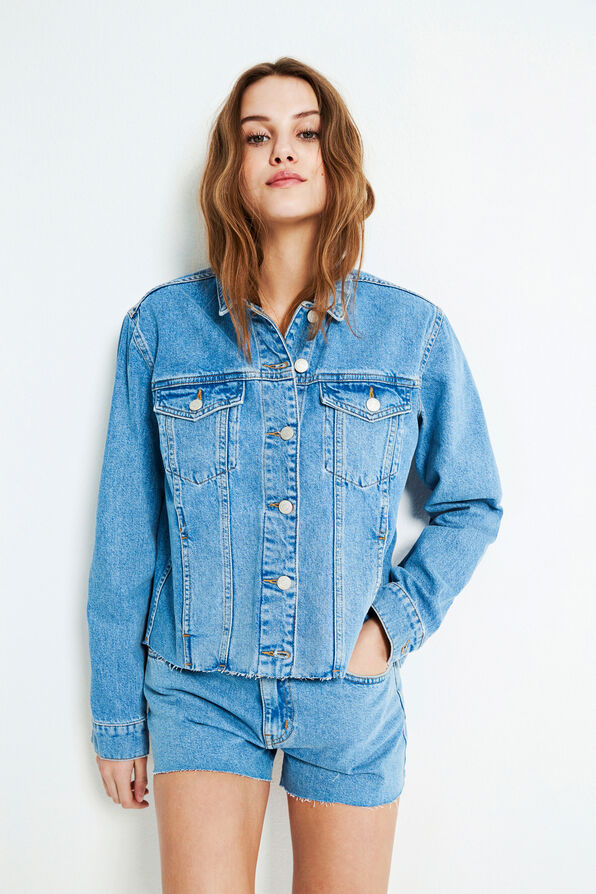 ENCASA DENIM JACKET 6520, SUMMER BLUES