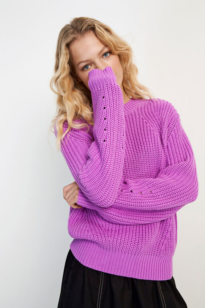 ENRUBY LS KNIT 5207, ELECTRIC PURPLE