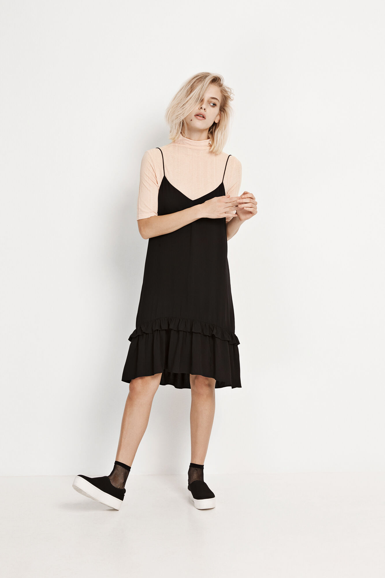 ENRIFLE SL DRESS 6275, BLACK