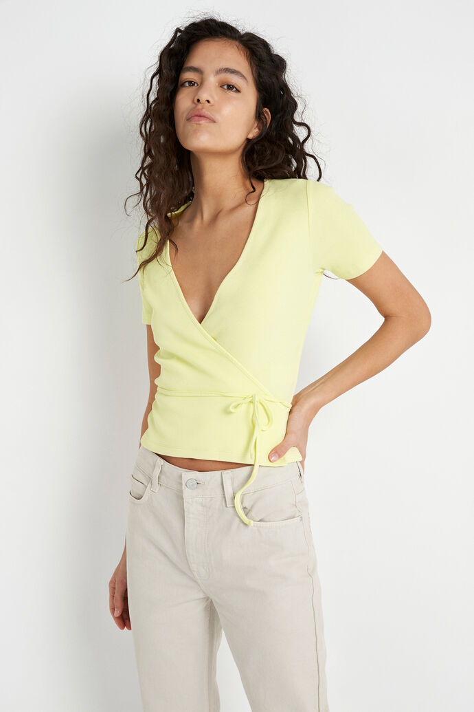 ENALLY SS V-N TEE 5314, PALE LIME YELLOW