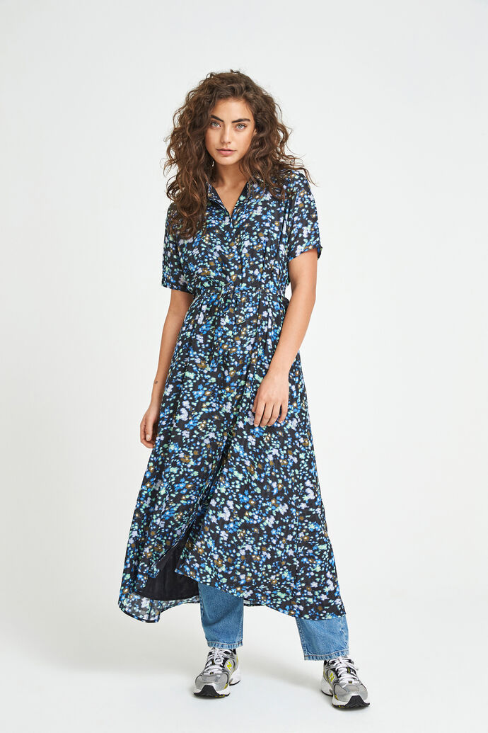 ENTRIBE SS DRESS AOP 6716, SPRAY CAN FLEUR