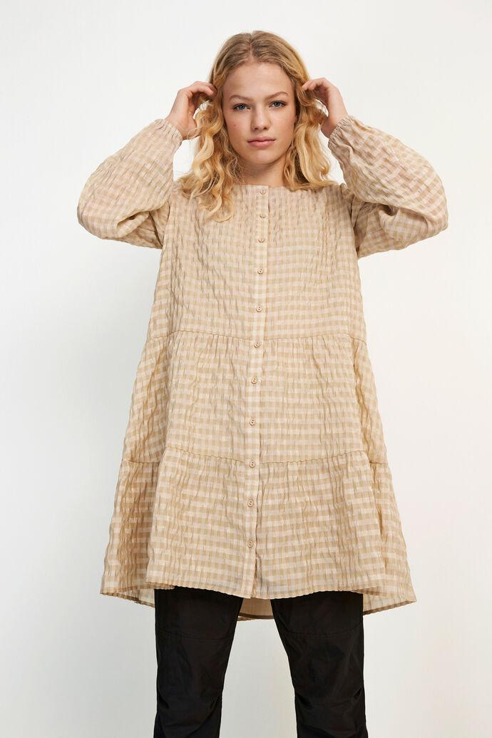 ENCULLINAN LS SHORT DRESS 6690, DOESKIN CHECK