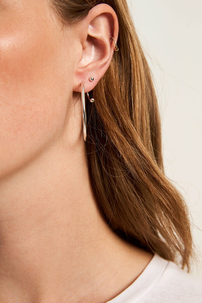 ENGUNTHER EARRING 5635, SILVER