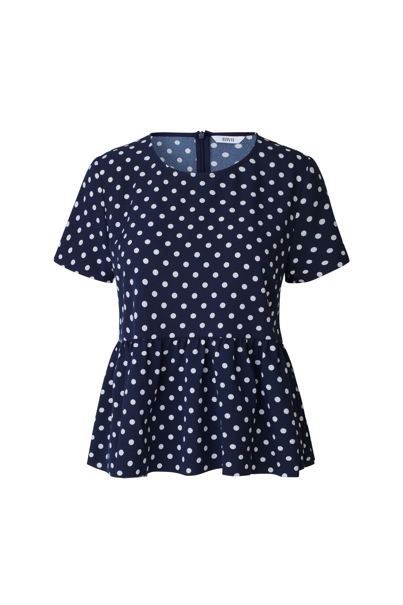 ENSORBET SS TOP AOP 6417, NAVY DOT BIG