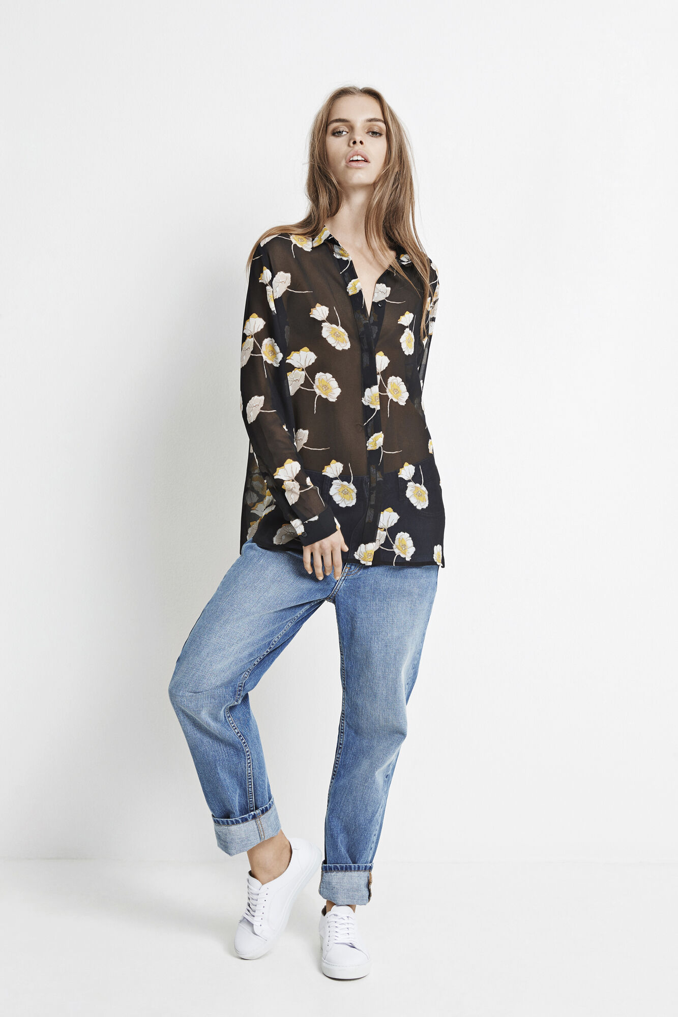 ELLE SHIRT AOP 6395, POPPY FLOWER AOP