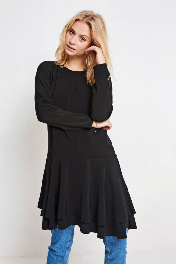 ENAPOLLO LS DRESS 6490, BLACK