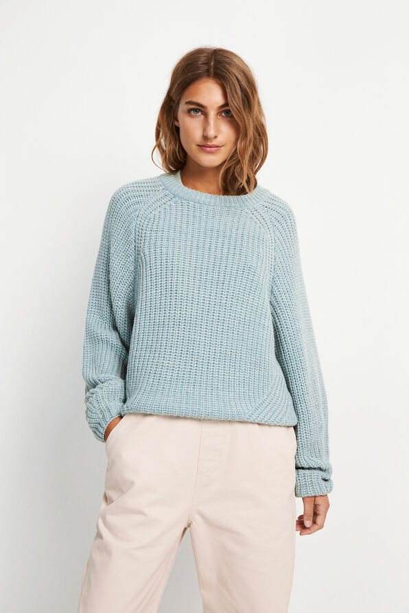 ENCENTRAL LS KNIT 5188, SURF SPRAY MEL