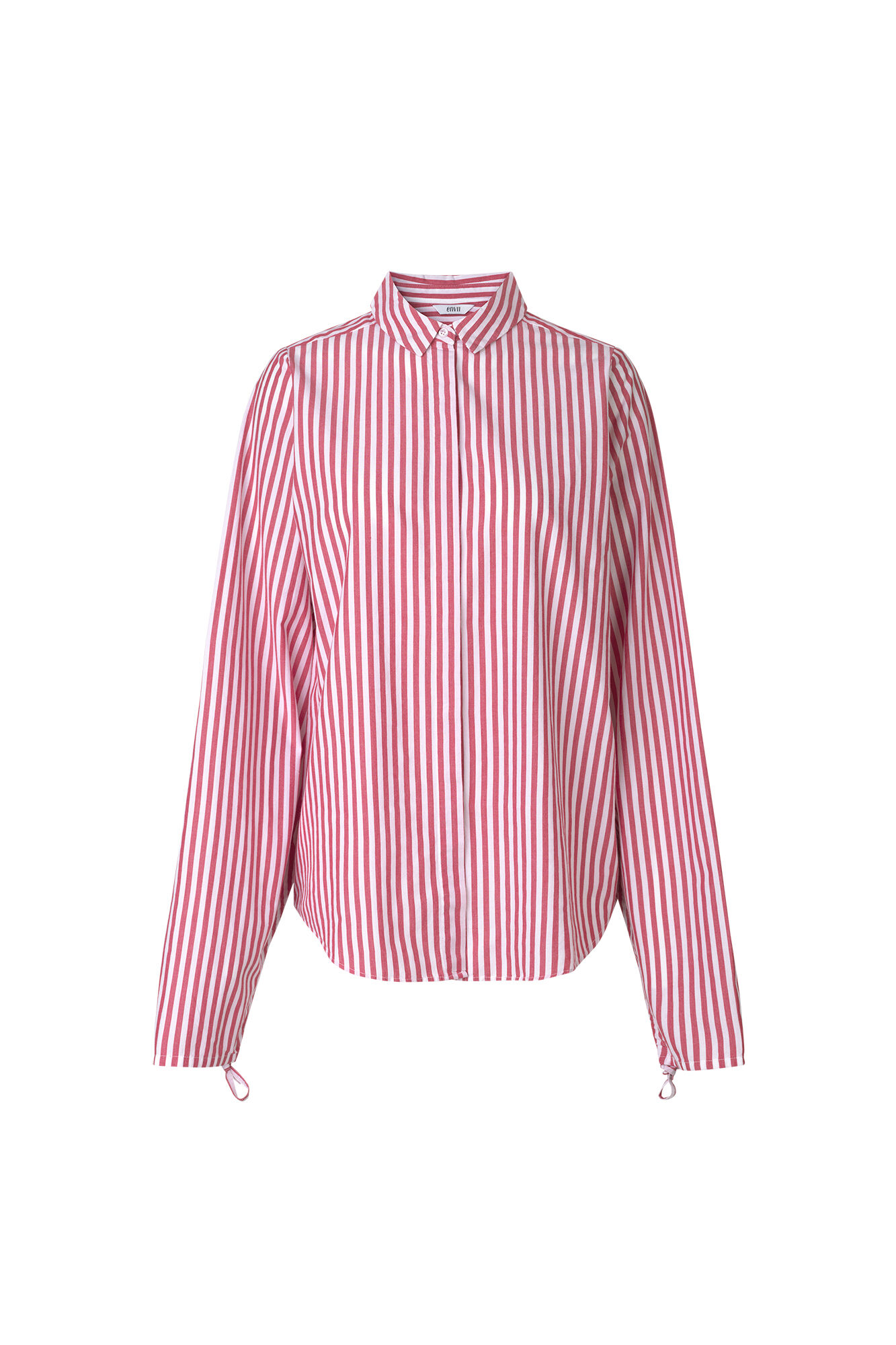 ENPOPCORN LS SHIRT 6433, RED-WHITE ST