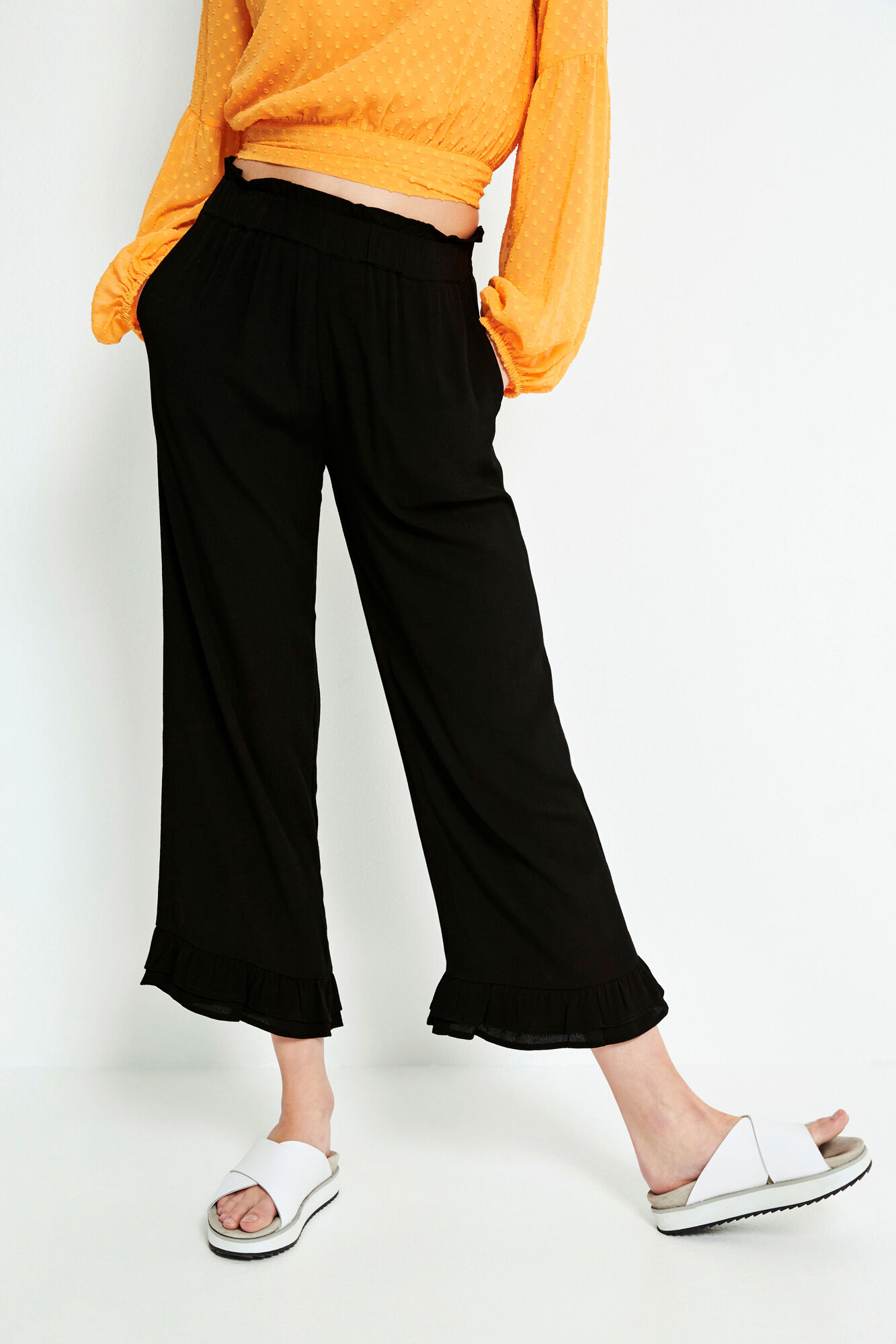 ENLATINA PANTS 6257, BLACK