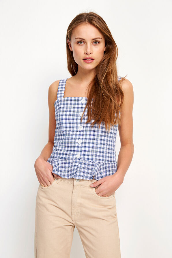 ENSUNSET SL TOP 6607, PEASANT CHECK
