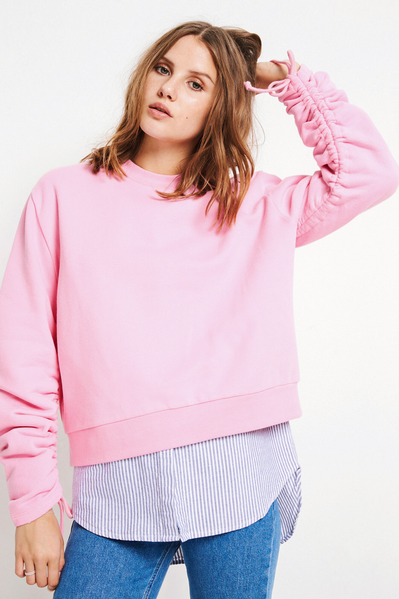 ENCOSMIC LS STRING SWEAT 5899, BEGONIA PINK