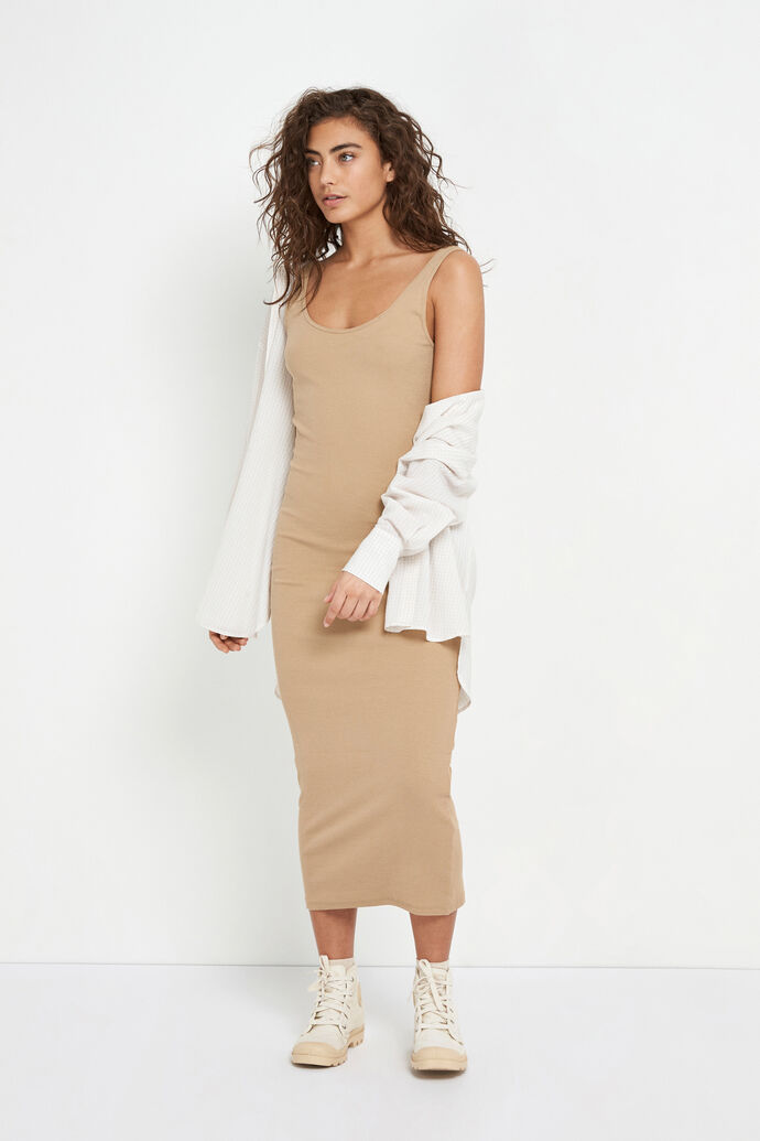 ENALLY SL DRESS 5314, TRAVERTINE