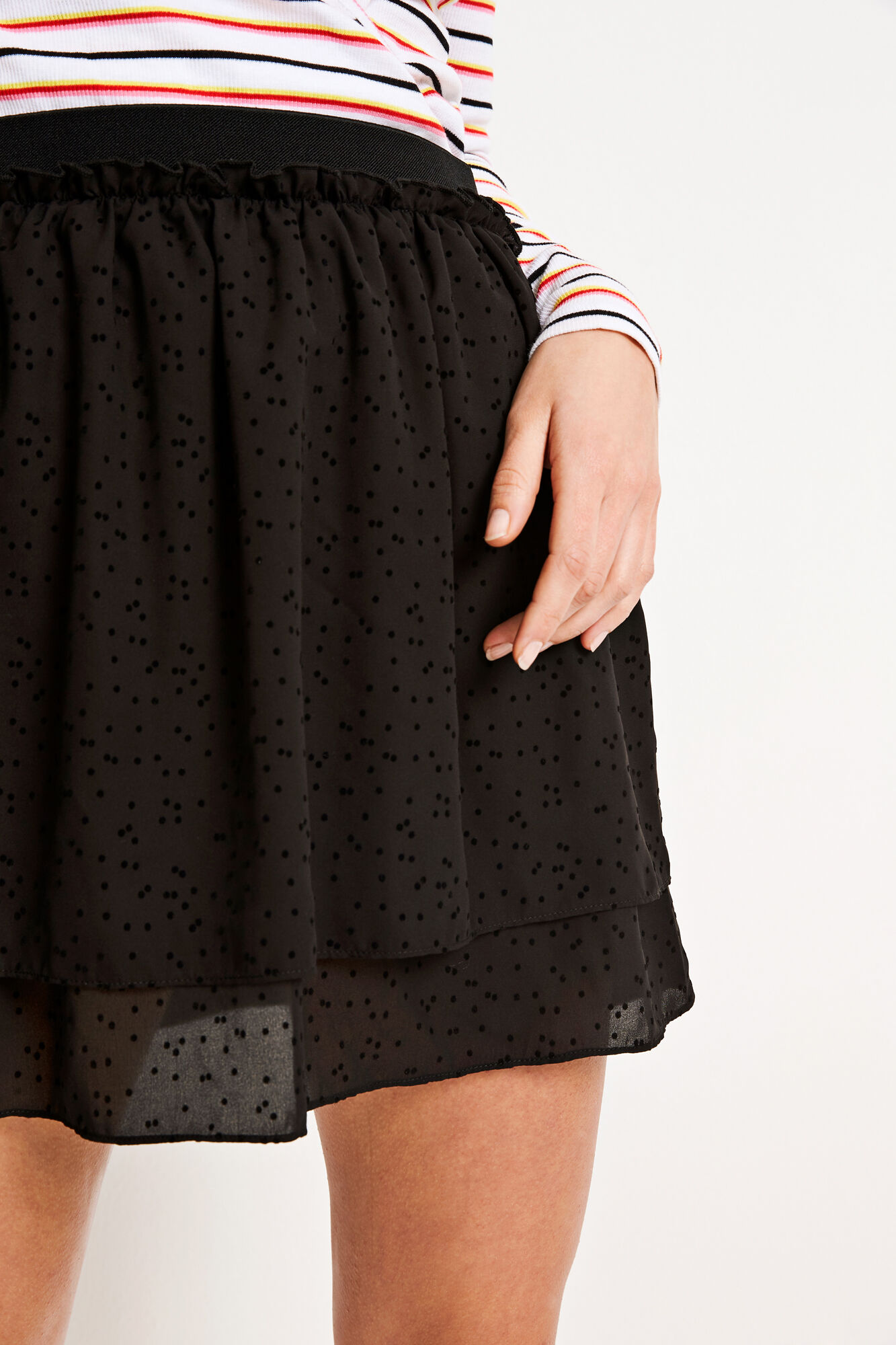 ENPOP SKIRT 6507, BLACK