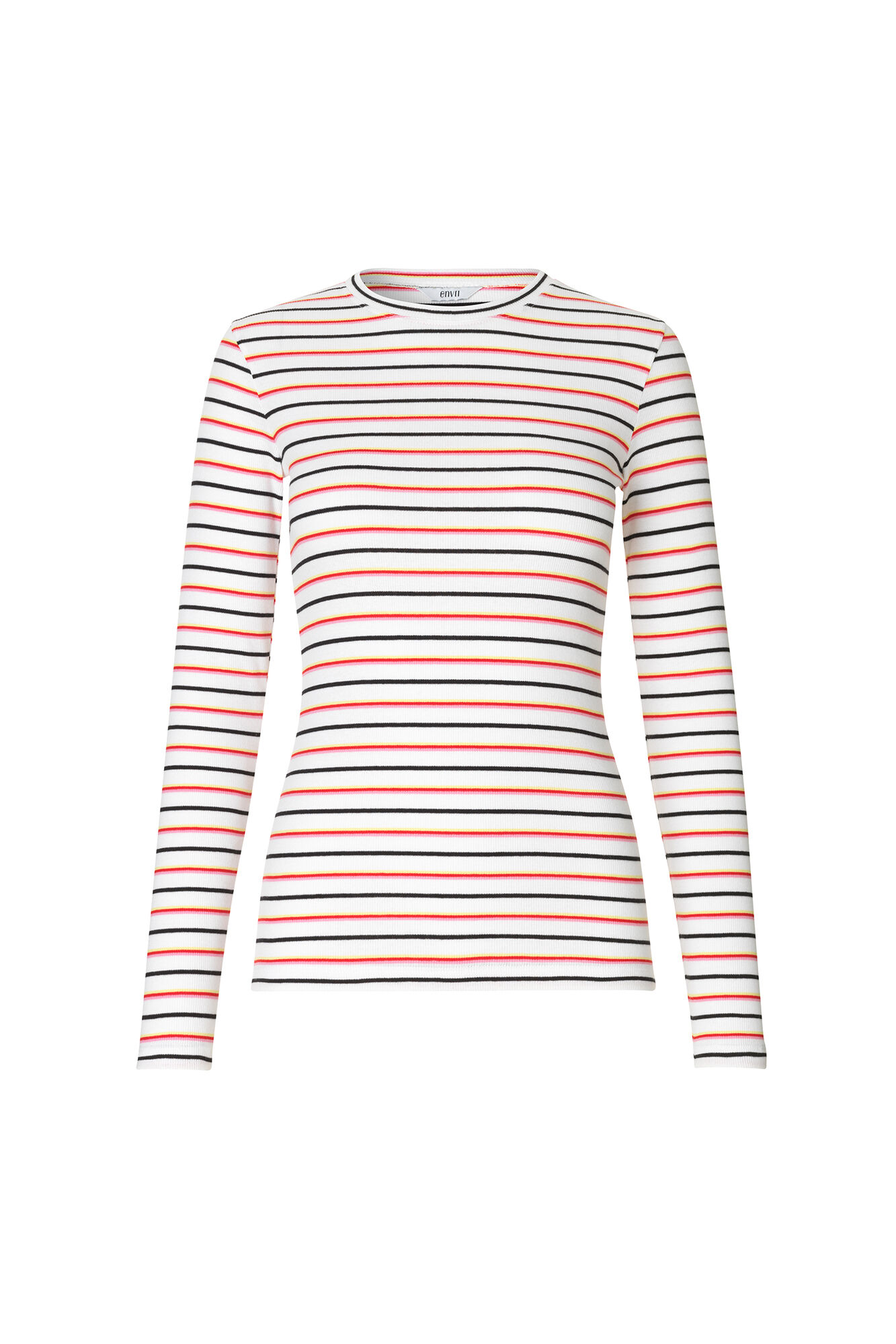 ENALLY LS O-N TEE MULTI 5892, MULTI STRIPE