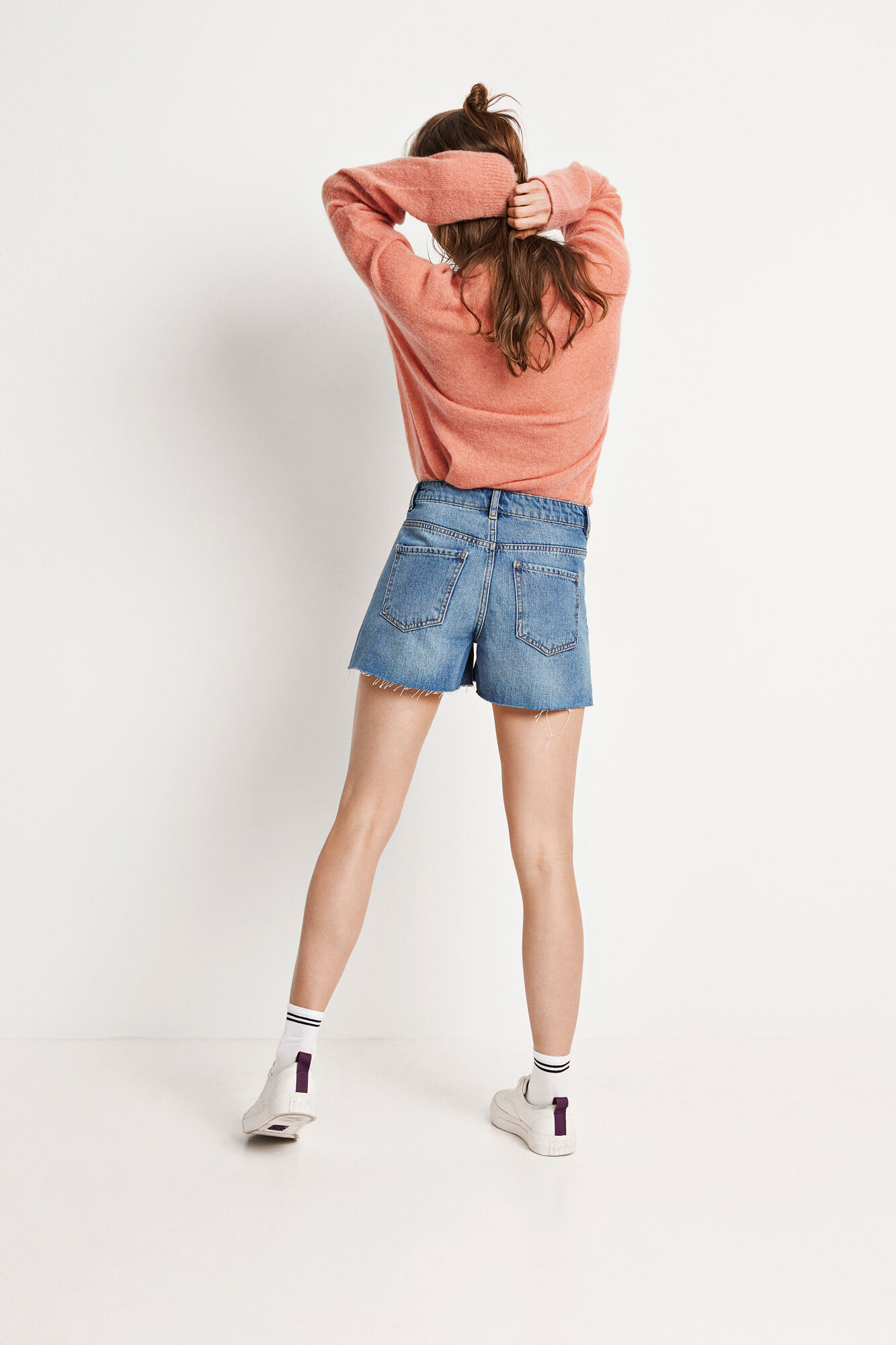 ENSETTLER DENIM SHORTS 6463, WORN BLUE