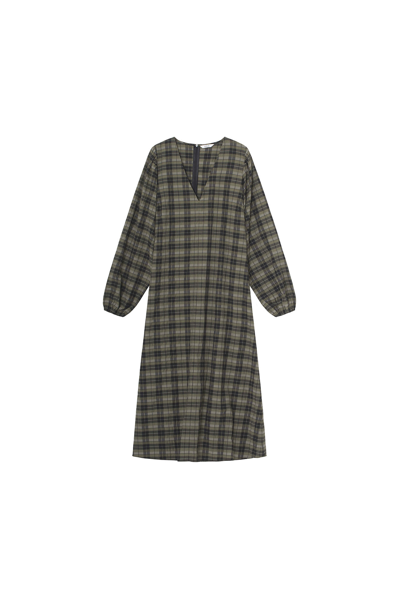 ENJADE DRESS 6800, OLIVE CHECK