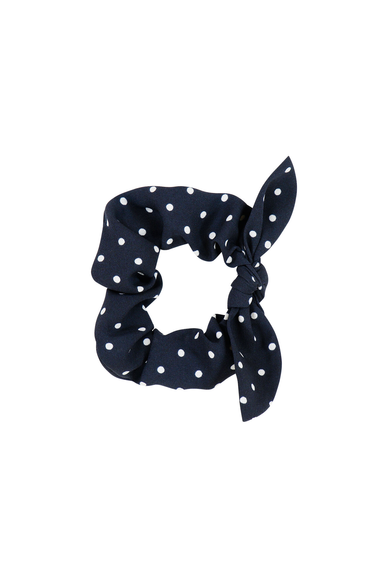 ENFLAKE SCRUNCHIE AOP 6508, NAVY DOT SMALL