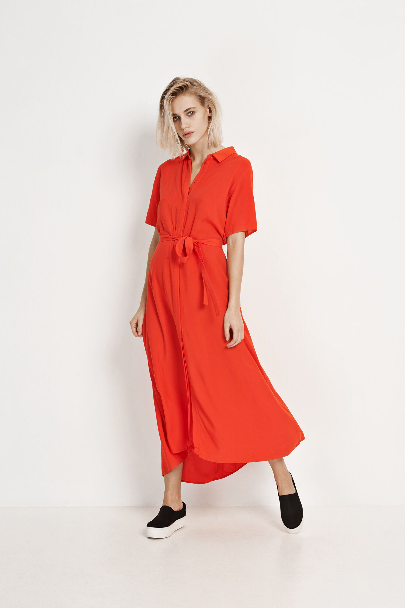 ENTRIBE SS DRESS 6275, HOLIDAY RED