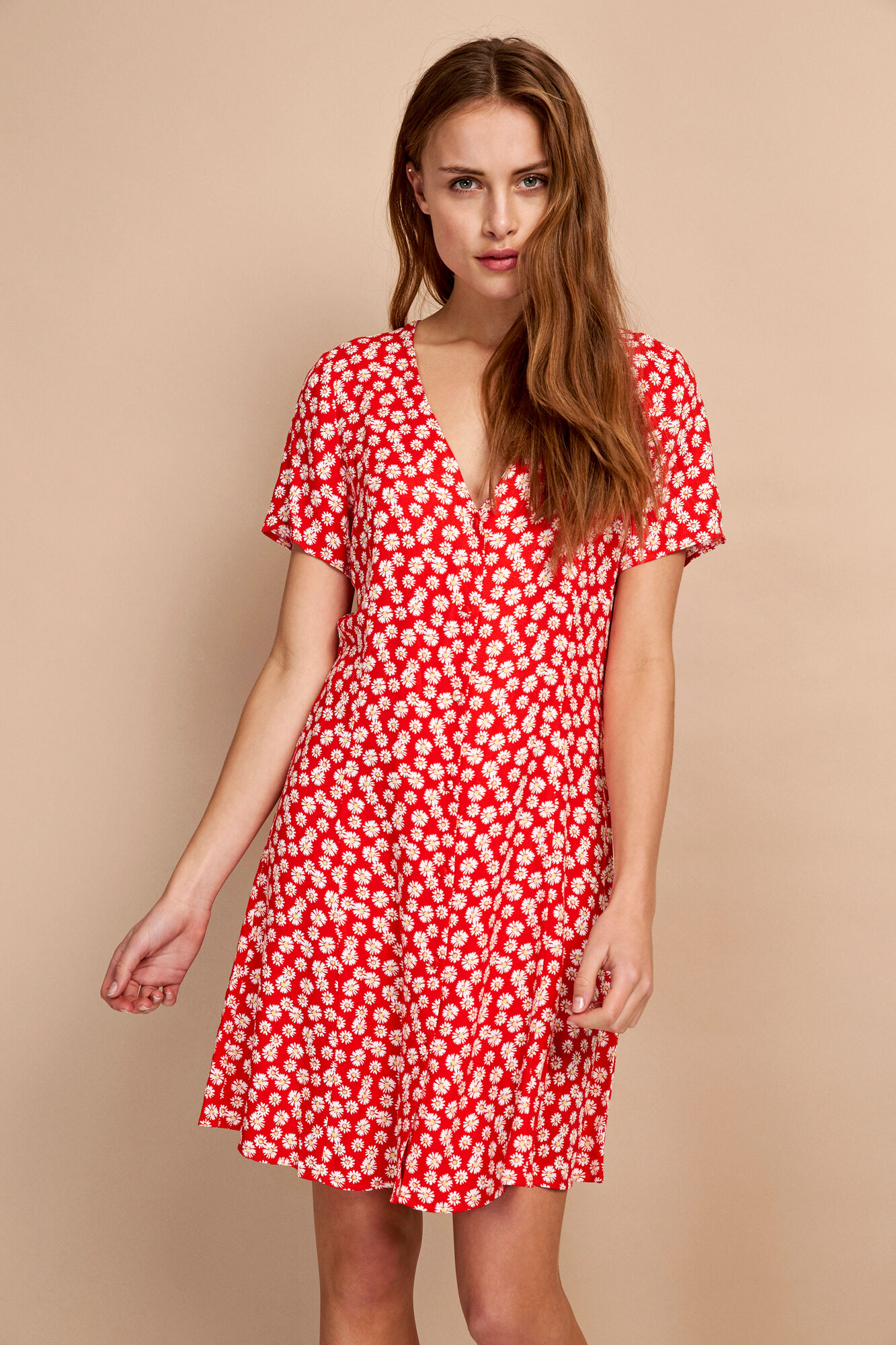 ENFAIRFAX SS DRESS AOP 6546