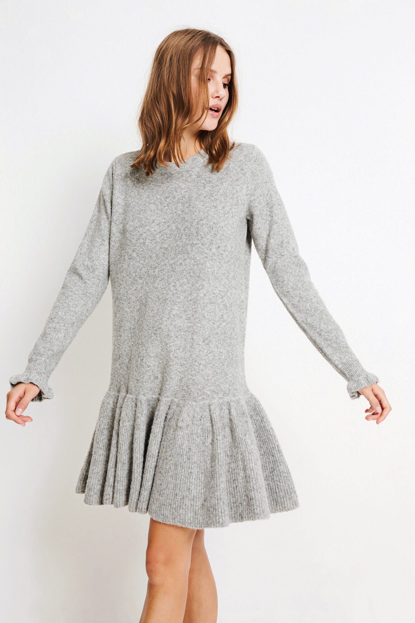 ENJUPITER LS DRESS 5178, GREY MEL.