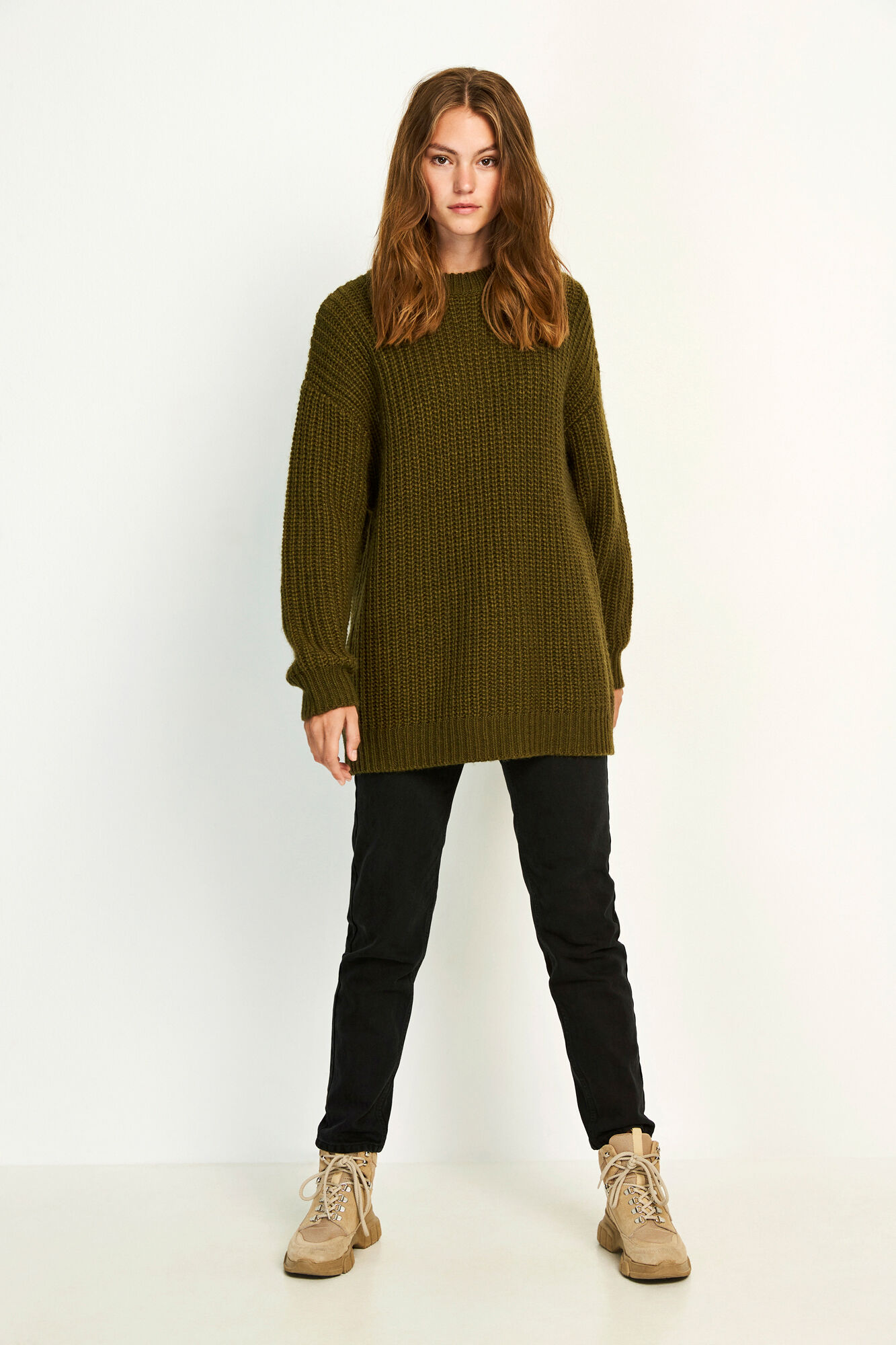 ENLINDEN LS KNIT 5213, OLIVE NIGHT MEL