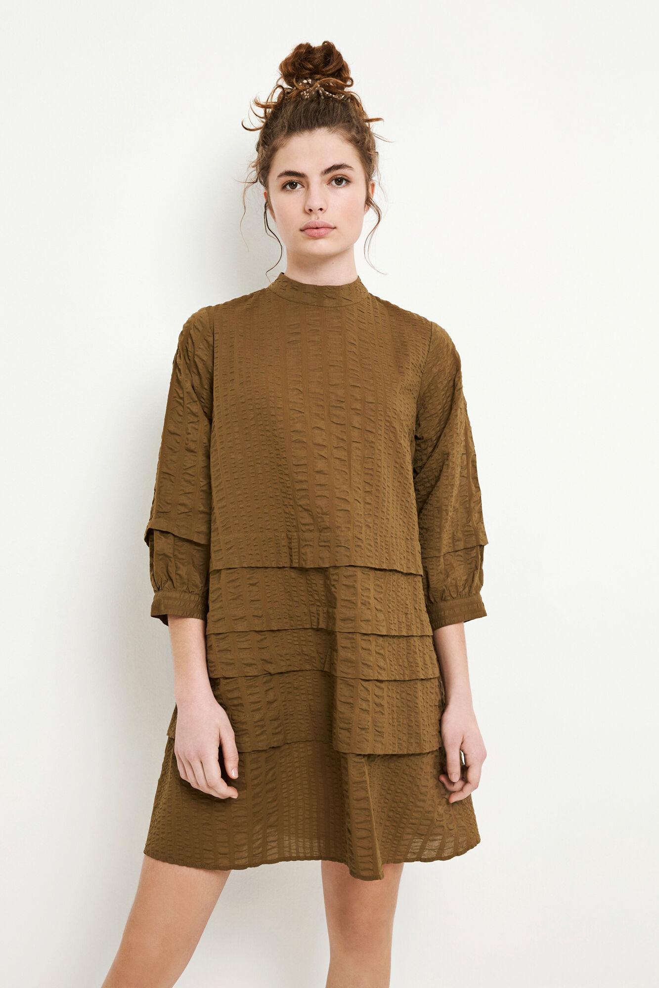 ENYELLOW 3/4 DRESS 6698