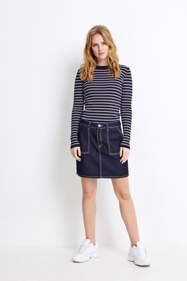 ENKAHLO LS KNIT DB 5121, NAVY DB STRIPE