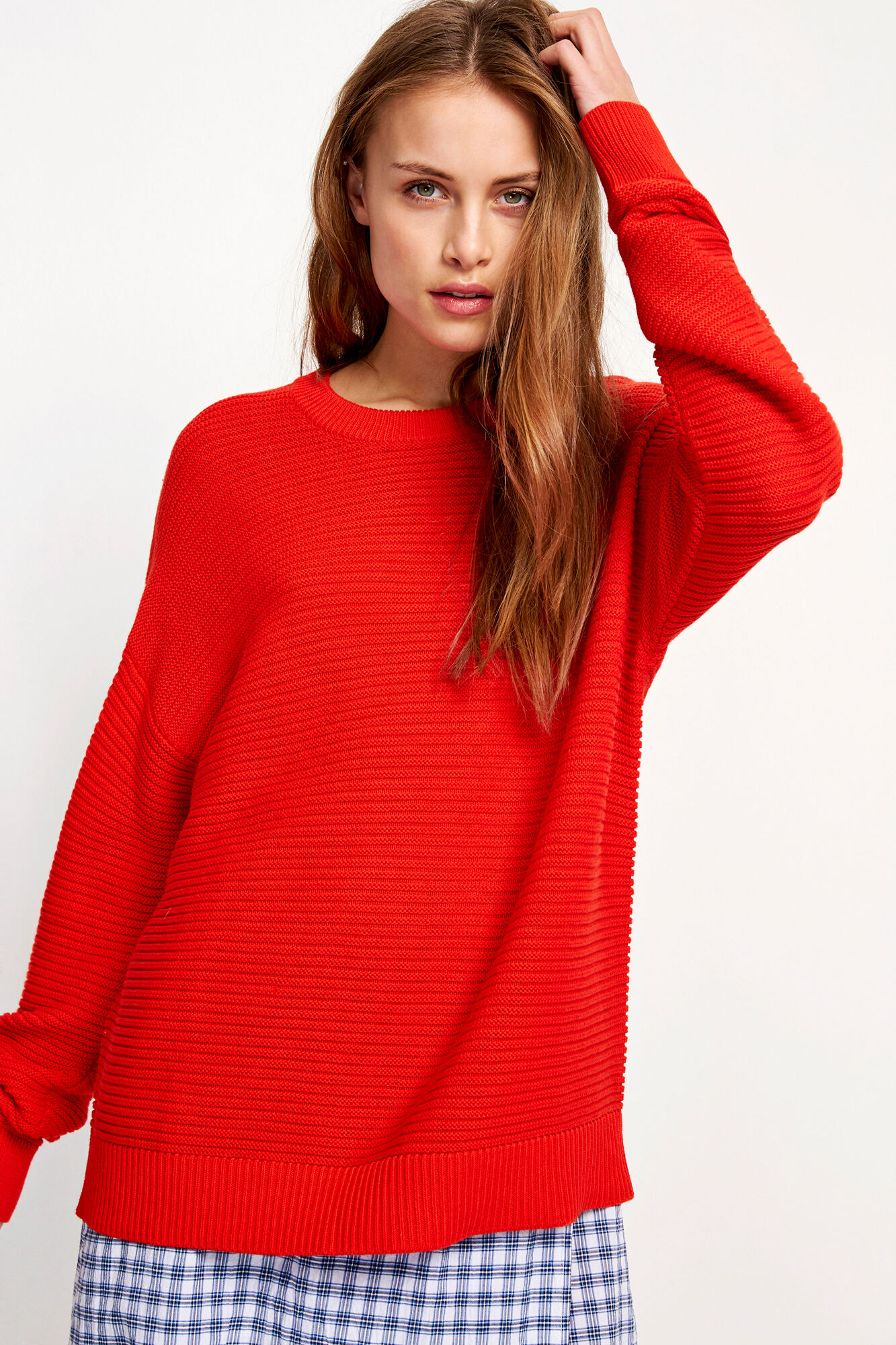 ENPALOS LS KNIT 5204, FIERY RED