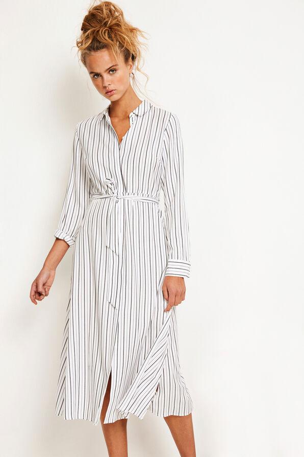 ENSHAMOONA LS DRESS 6530, MOROCCAN STRIPE