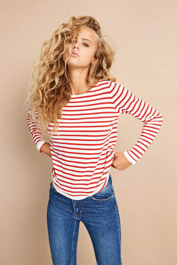 ENNICOSIA KNIT 5073, MARS CREAM STRIPE