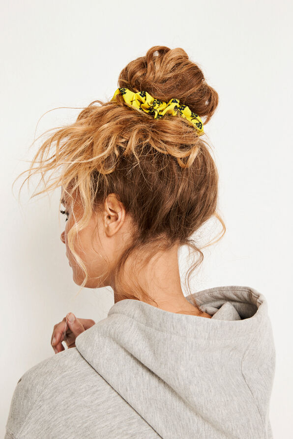 ENWELLY SCRUNCHIE AOP 6527, YELLOW BLOOM AOP