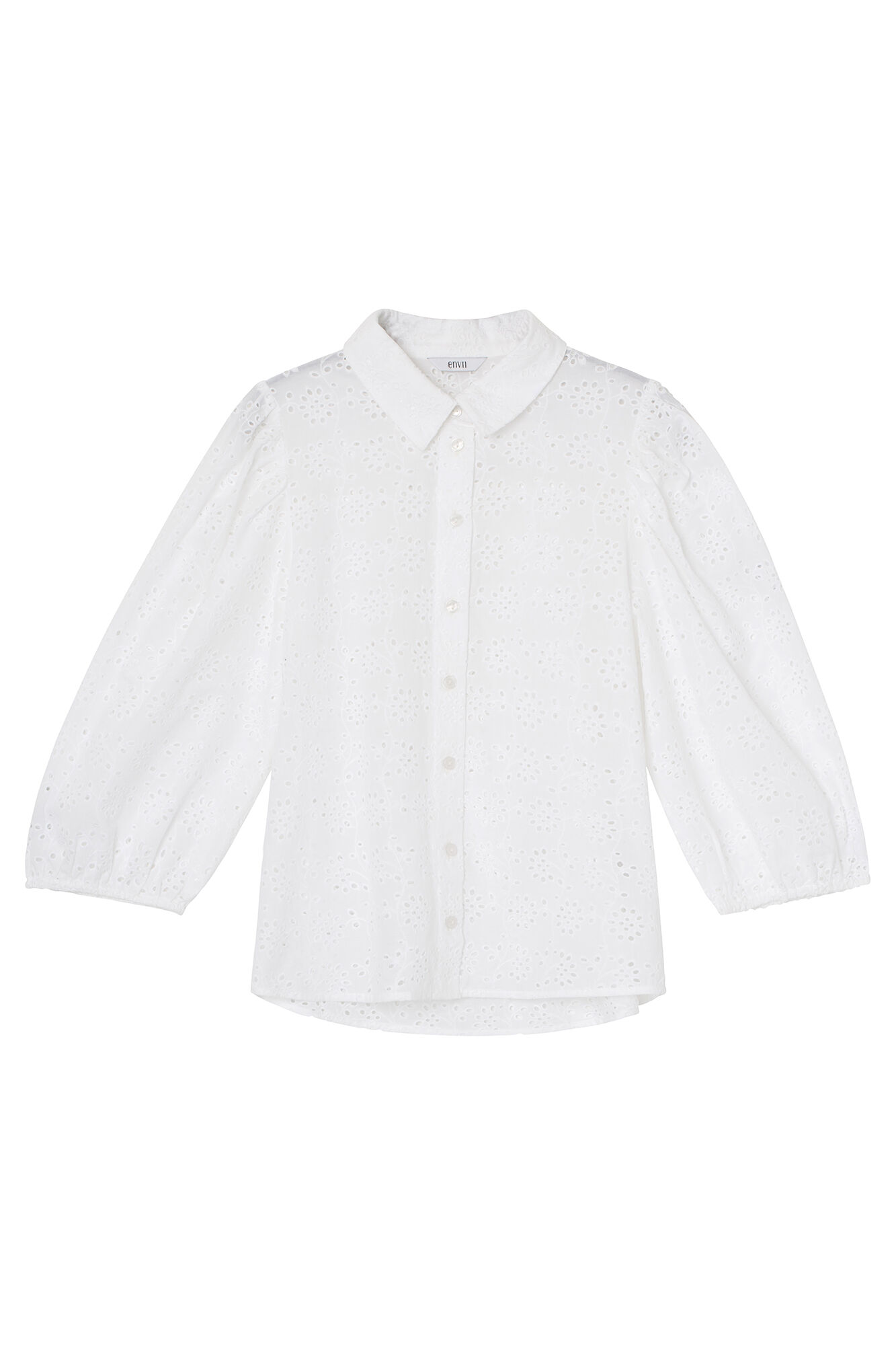 ENTRACY 3/4 SHIRT 6732, WHITE