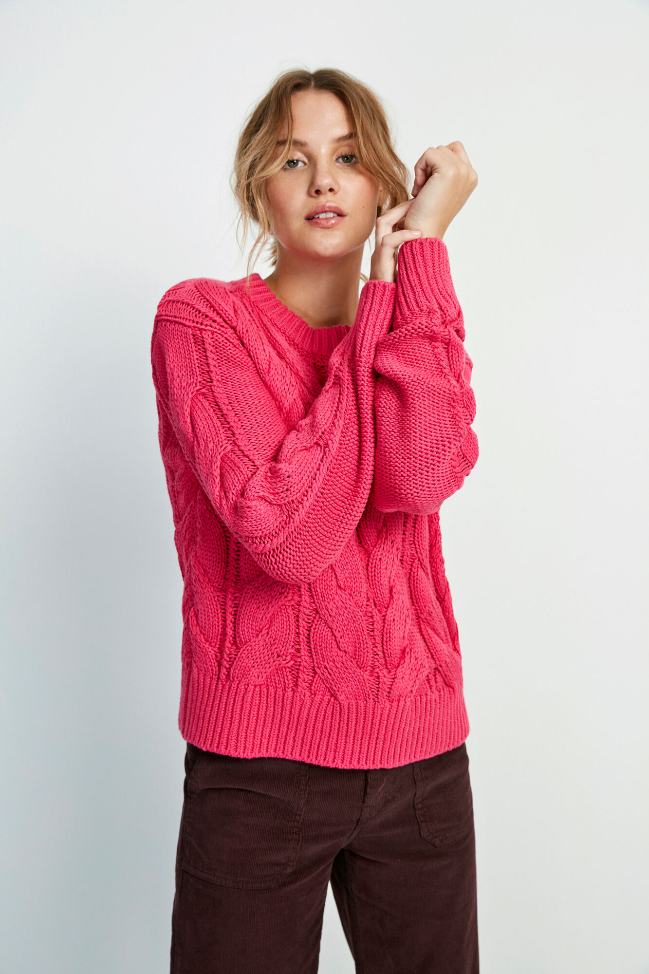 ENSTORM LS KNIT 5190, FUCHSIA PURPLE